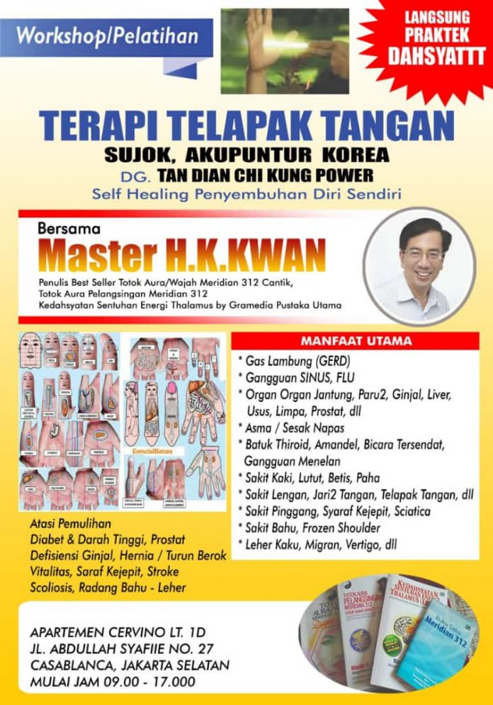 Master HK Kwan, Spesialis Terapi Scoliosis dan Terapi Telapak Tangan Terbaik Jakarta